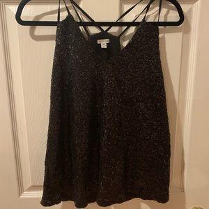 Black sparkly tank top